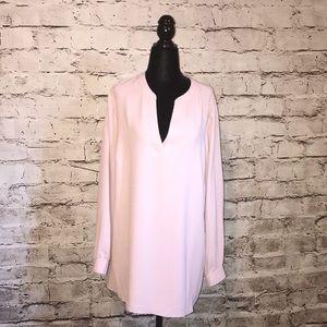 Anne Klein blush pink blouse
